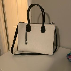 Michael Kors Structured black and white bag